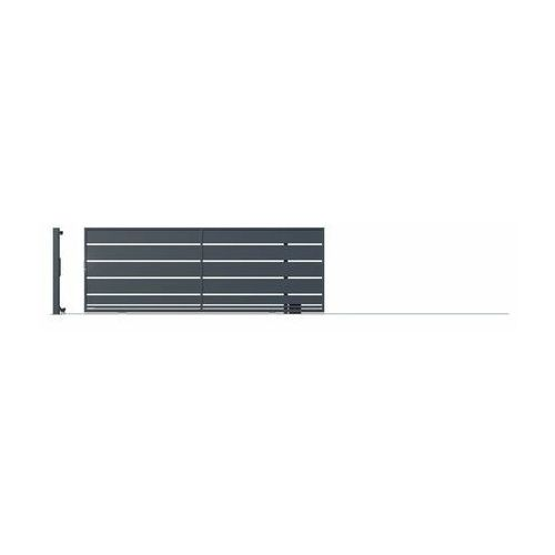 Brama przesuwna bez przeciwwagi OPAL 400 x 152 cm z automatem prawa POLARGOS (5902360132894)