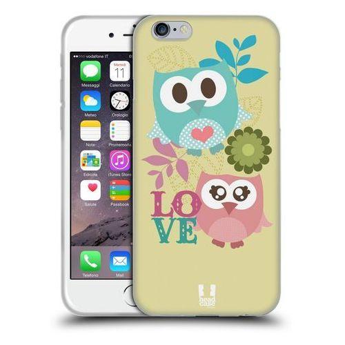 Head case Etui silikonowe na telefon - kawaii owl pink and blue love