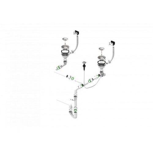 syfon zlewozmywakowy podwójny 1127258 marki Alveus