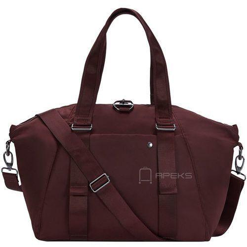 Pacsafe citysafe cx tote torba damska antykradzieżowa do ręki / na ramię / bordowa - merlot