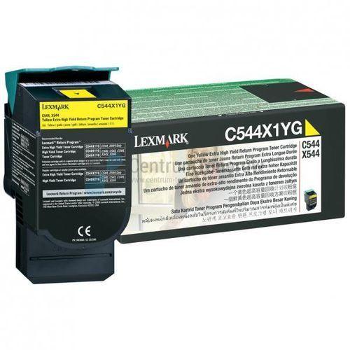 oryginalny toner c544x1yg, yellow, 4000s, return, extra duża pojemność, lexmark x544x marki Lexmark