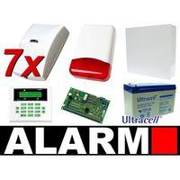 Satel Zestaw alarmowy ca-10 lcd, 7 czujek, sygnalizator zewnętrzny