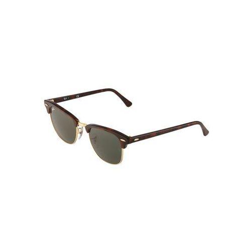 RayBan CLUBMASTER Okulary przeciwsłoneczne braun/goldfarben, kolor ciemnobrązowy