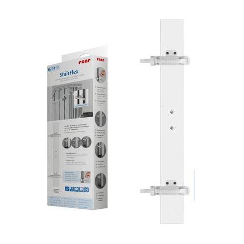 Adapter do bramek i balustrad, stairflex, - biały marki Reer