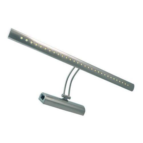 Ideus Kinkiet lampa ścienna brena 03070 regulowana oprawa metalowa led 6w galeryjka nad lustro satyna (5901477330704)