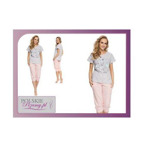Dobranocka Piżama damska kitty kolor: szary/róż