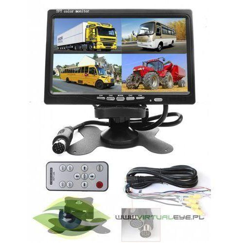 """Monitor LCD 7"""" cztero-kanałowy z podziałką Quad 7, F22F-156A7 - OKAZJE"""
