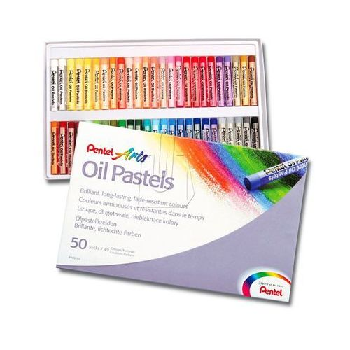 Kredki Pastele 50 kolorów PENTEL (4711577003610)