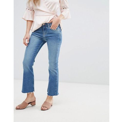 New Look Kick Flare Frayed Hem Jeans - Blue, kolor niebieski