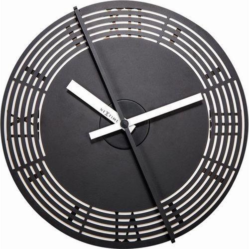 Nextime - zegar ścienny kinegram roman number - czarny