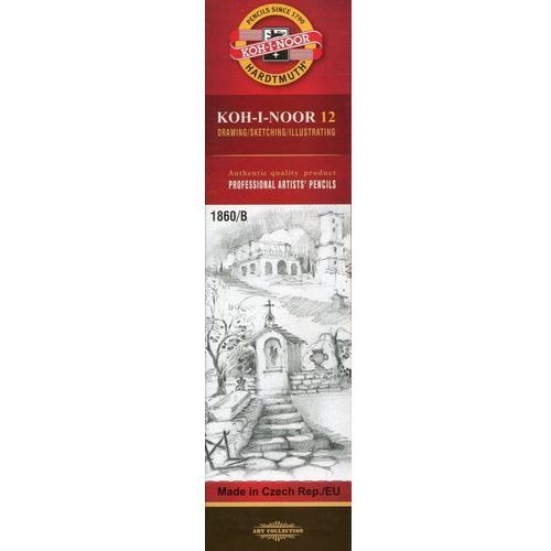 Koh-i-noor Ołówek grafitowy 1860/b gold star 12 sztuk (8593539043089)