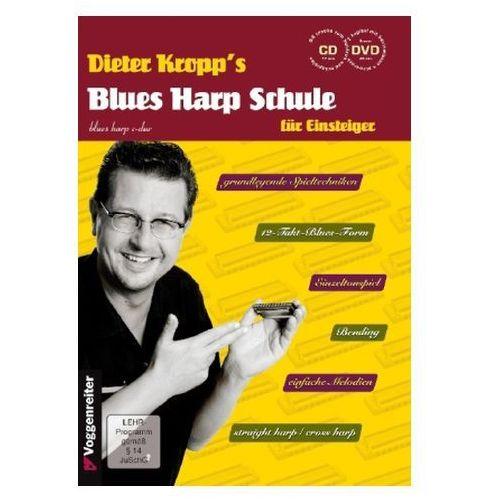 Dieter Kropp's Blues Harp Schule, m. Audio-CD u. DVD