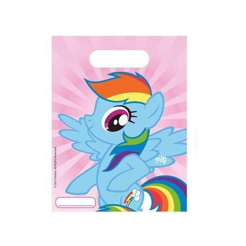 Prezentowe torebki urodzinowe My Little Pony Rainbow - 6 szt. z kategorii dekoracje i ozdoby dla dzieci