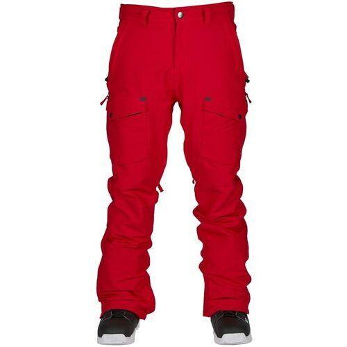 Bonfire Spodnie - zone stretch pant red (red) rozmiar: m