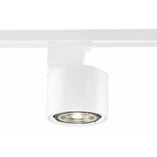 Reflektorowa LAMPA sufitowa MIKI 7701 Shilo metalowa OPRAWA regulowana do 3-fazowego systemu szynowego biała, kolor biały;czarny