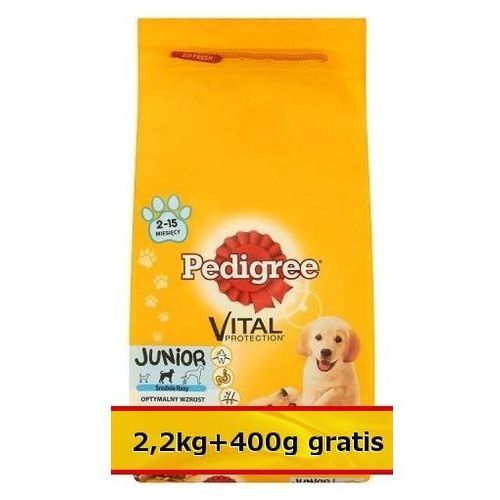 Pedigree Junior Średnie Rasy Kurczak 2,6kg (2,2kg+400g gratis), kup u jednego z partnerów
