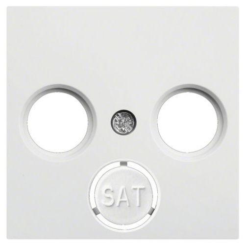 Płytka czołowa RTV-SAT, biała LUMINA2 WL6310 HAGER, WL6310/HAG