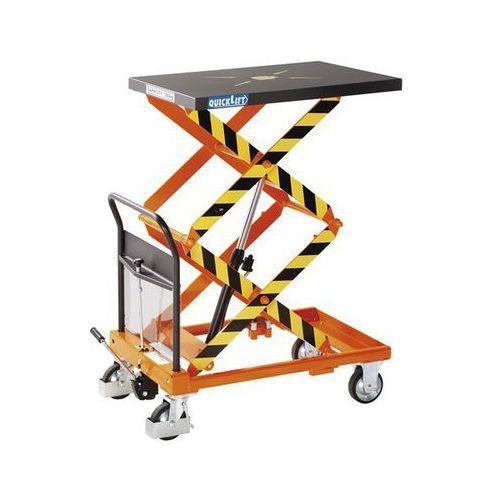 Nożycowy wózek podnośny maximus, nośność 300 kg, podn. na naciśnięcie pedału z q marki Seco