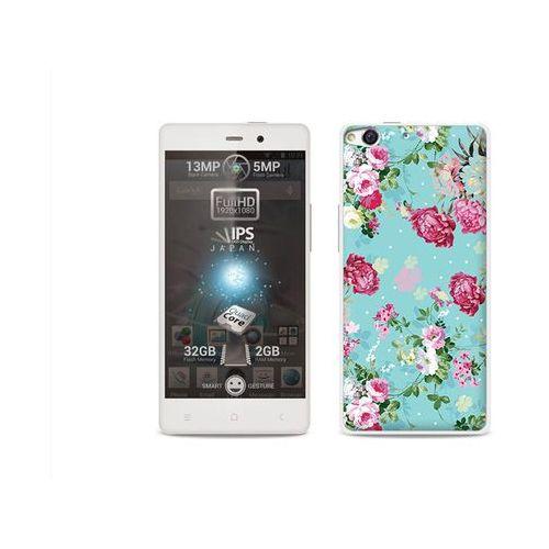 Fantastic Case - Allview X1 Soul - etui na telefon Fantastic Case - różyczki na miętowym tle (Futerał telefoniczny)