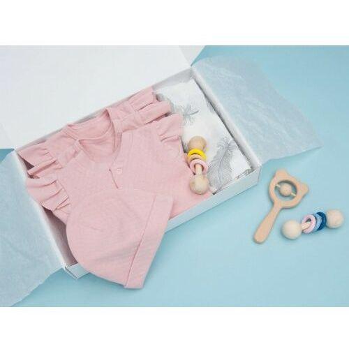 Zestaw dla noworodka # moja pierwsza wyprawka / komplet 7-częściowy pudrowy róż - marki Dolce sonno