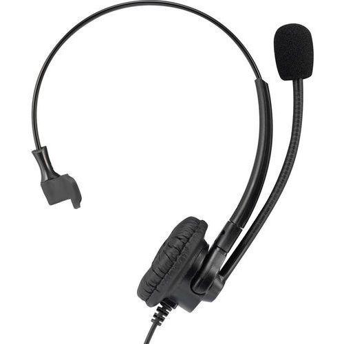 Zestaw słuchawkowy do telefonu Basetech KJ-380M, QD (Quick Disconnect), On Ear