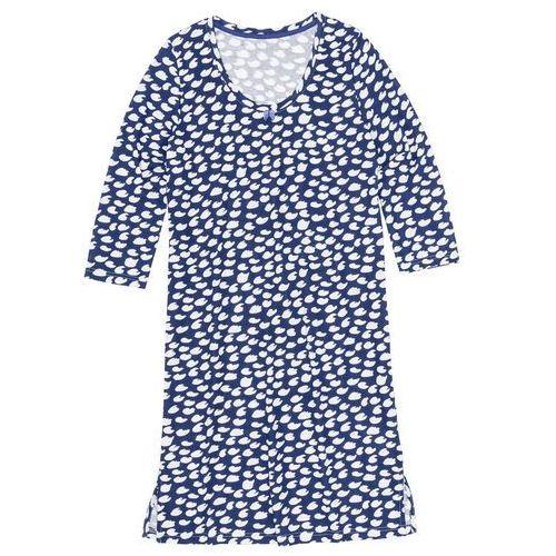 Koszula nocna szafirowo-biały wzorzysty, Bonprix, S-XXXL