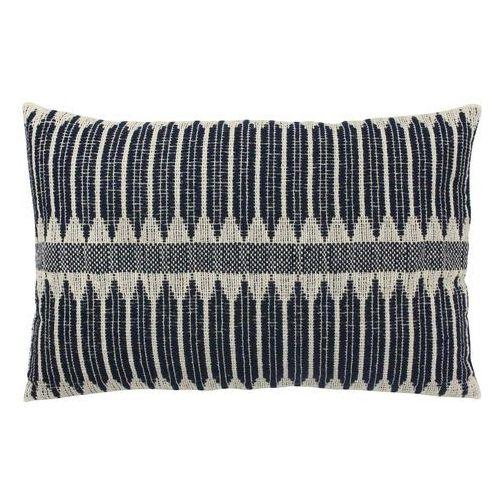 Hk living bawełniana poduszka z biało-czarnymi azteckimi wzorkami (40x60) tku2044 (8718921017367)