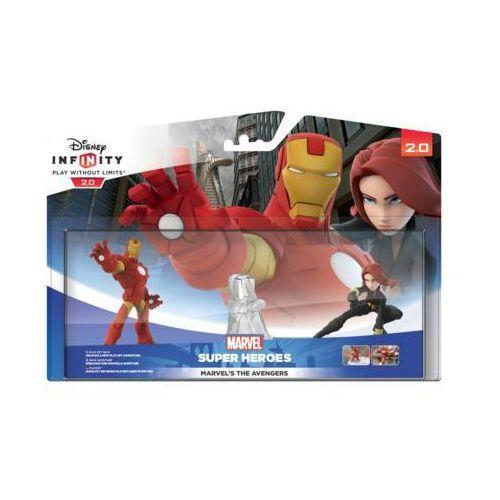 Disney infinity Zestaw figurek disney inifinity 2.0: marvel super heroes - iron man, czarna wdowa, playset piece) (8717418429812)