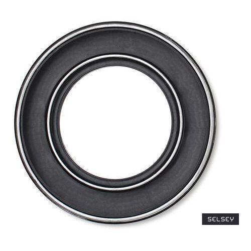 SELSEY Lustro Bagan czarne o średnicy 39,4 cm (5903025998527)