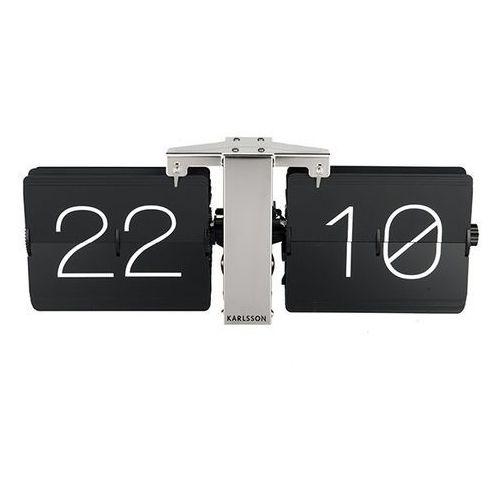 Karlsson:: Zegar biurkowy Flip Clock No Case czarny - czarny, kolor czarny