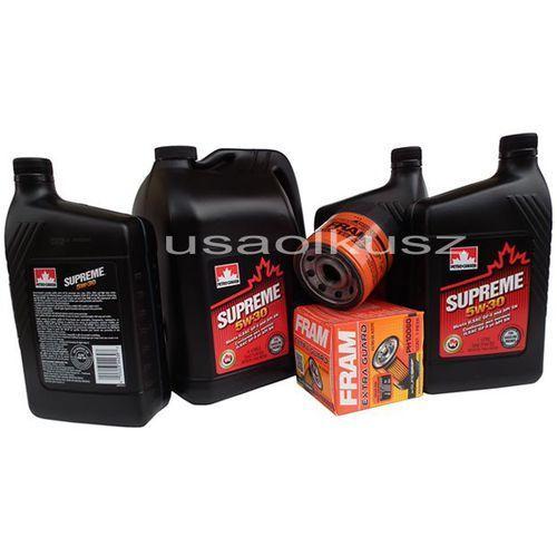 Olej 5w30 oraz filtr oleju silnika chevrolet silverado 2007- marki Petrocanada-fram