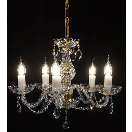 Żyrandol kryształowy 5-ramienny - marki Elite bohemia