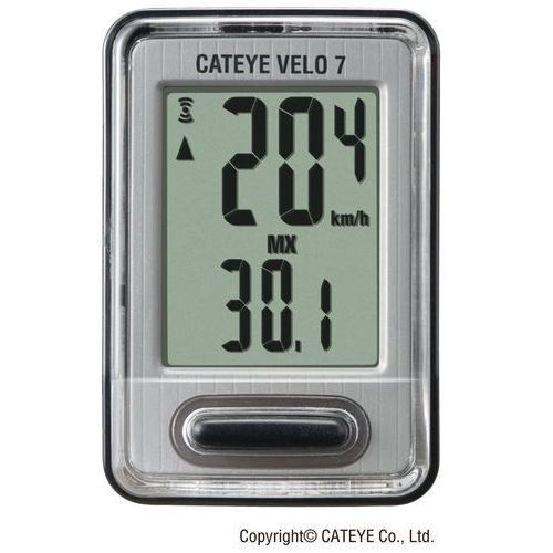 Cateye Licznik rowerowy velo 7 cc-vl 520 (4990173023929)