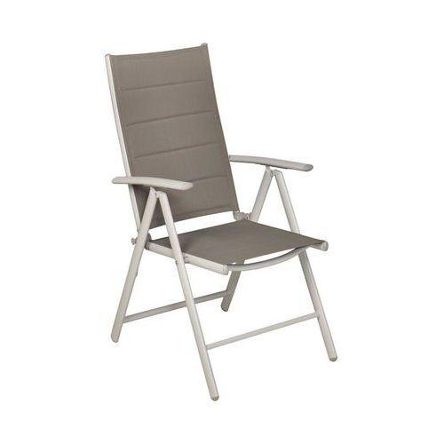 Krzesło ogrodowe IBIZA aluminiowe srebrne z ragulowanym oparciem