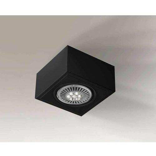 Shilo Spot lampa sufitowa uto h 1217/g53/bi regulowana oprawa prostokątna kostka cube biała