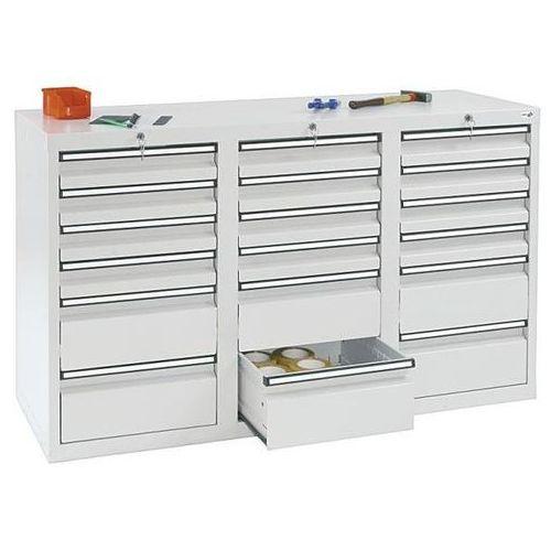 Szafka z szufladami, wys. x szer. x gł. 900x1500x500 mm, 12 szuflad o wys. 100 m