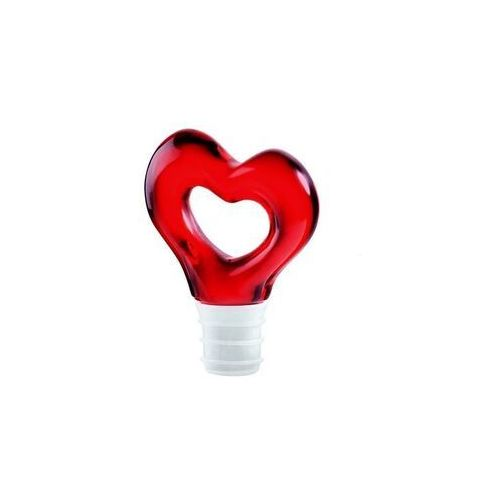 - love - zatyczka do butelki, czerwona marki Guzzini