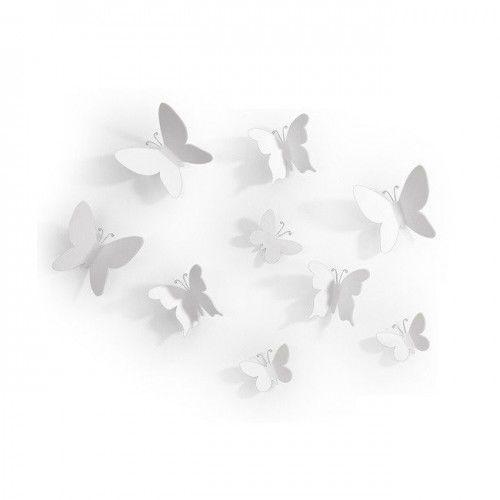 Umbra dekoracja ścienna mariposa biała (0028295277679)