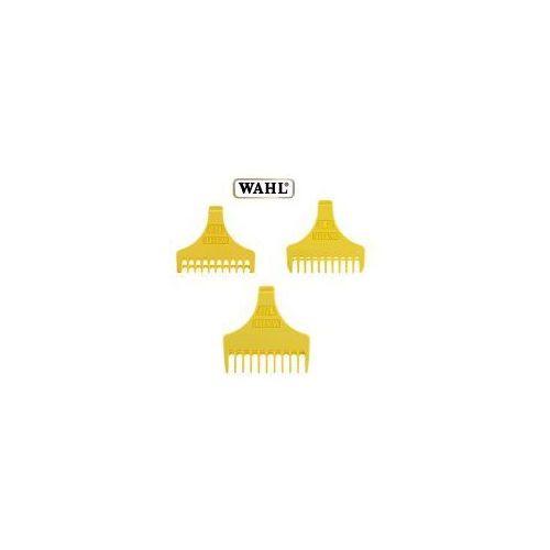 Wahl , zestaw 3 nasadek plastikowych żółtych do trymera wahl detailer, 1 1/2, 3, 4 1/2mm