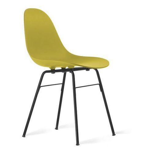 Toou Krzesło TA z podstawą metalową czarną TO-1511/1502-B, kolor różowy