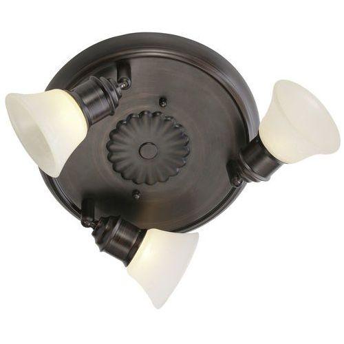 Eglo 89061 - lampa sufitowa alamo 3xg9/40w ciemny brąz / beż (9002759890612)