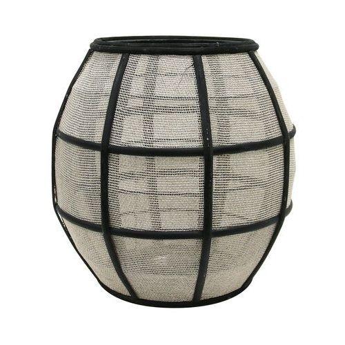 HK Living Okrągły bambusowy lampion z siatką, czarny/naturalny AKA3004 (8718921013987)