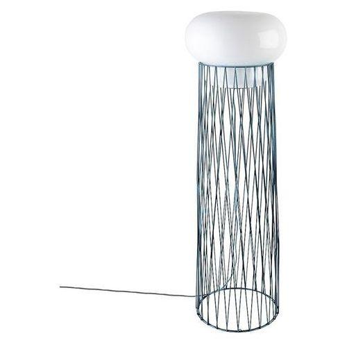 BLOW - Lampa podłogowa Opalowa/Jasnoniebieski metal Wys.130cm