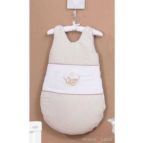 śpiworek haftowany śpioch w hamaku brąz z białym marki Mamo-tato