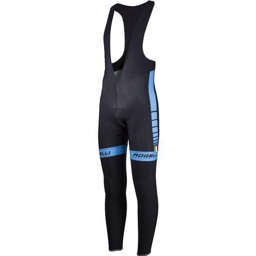 umbria - męskie spodnie rowerowe z wkładką żelową (czarno-niebieski) marki Rogelli
