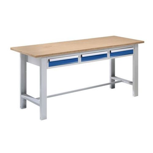 Stół warsztatowy,szer. blatu 1850 mm, 3 szuflady