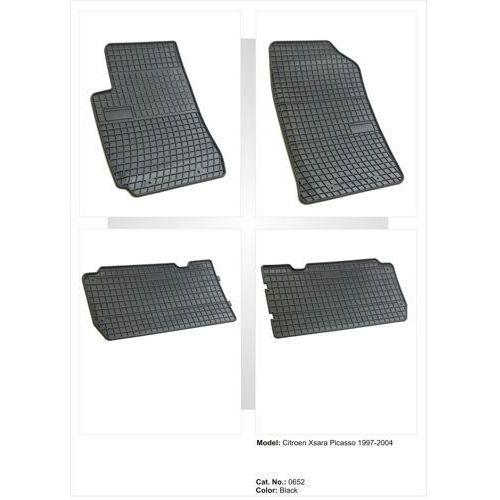 Dywaniki gumowe czarne z kompletem stoperów - citroen xsara picasso 1999-2004 marki Frogum