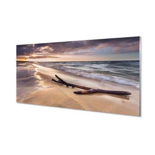 Obrazy na szkle Gdańsk Plaża morze zachód słońca