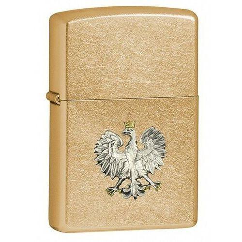 Zapalniczka Zippo Polski Orzeł- srebrny emblemat, Gold Dust