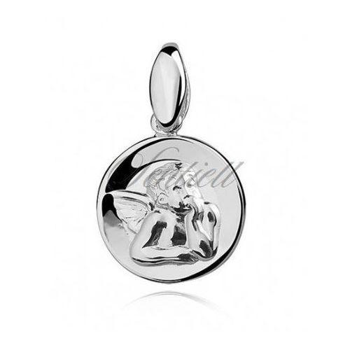 Srebrny medalik - Aniołek - KS0106, KS0106 - OKAZJE